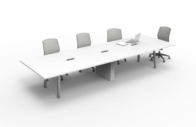 Two4Six | Conference Table | Metal Post Leg | Rectangle Center Base