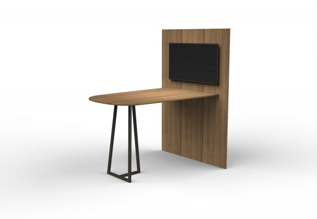 Two4Six Meeting | Media Table | Walnut Veneer | Open Frame Base