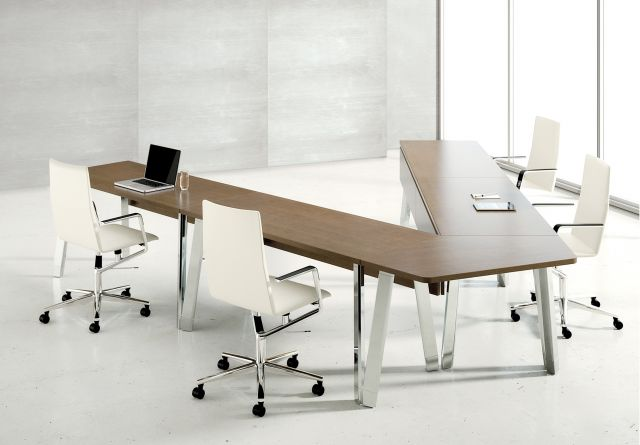 Agility | Reconfigurable Tables | Linea M27 Walnut Linea | Sightline