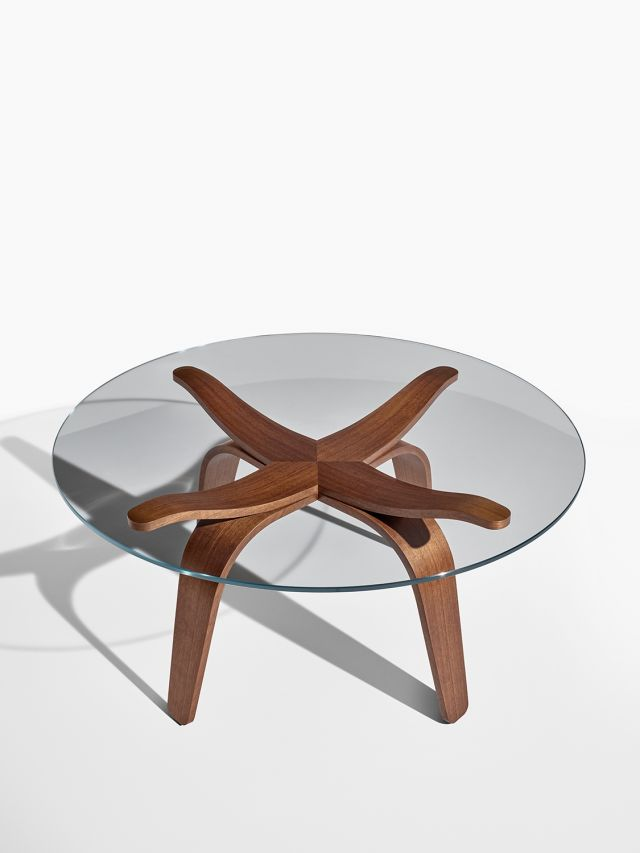 Alev X | Occasional Table | Custom Finish on Qtr. Walnut | Chat Height