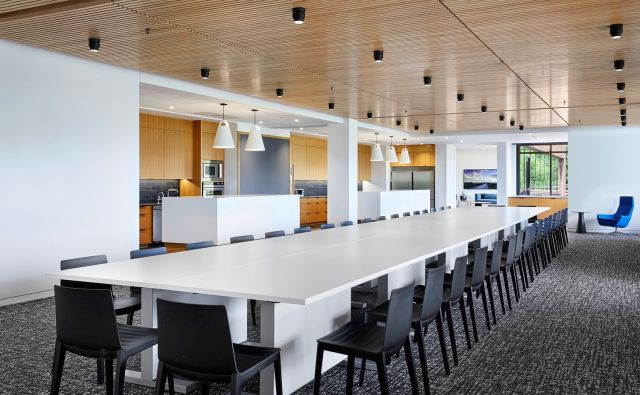 Approach | Conference Table | Bright White Laminate Top | Alley Poyner Architecture