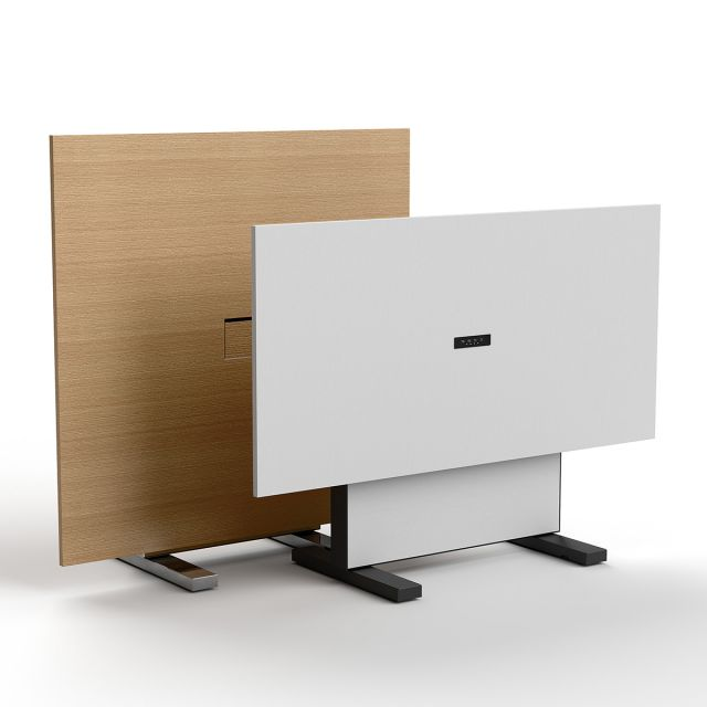 Approach | Reconfigurable Tables | Rectangle and Square Shape | Oak Linea Veneer and White Laminate | Power Matrix (square) Charging Plan (rectangle)