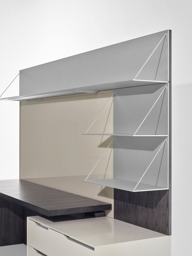 Ascari Casegood | Char Ash Veneer | Side View