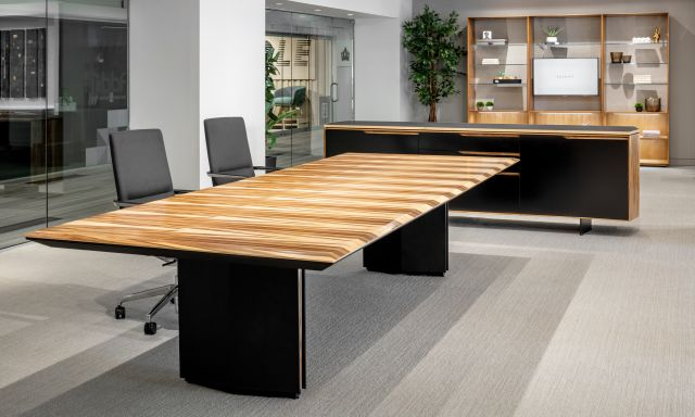 Ascari Conference   Rectangle Table   Panel Base   Chicago Showroom