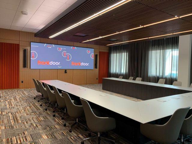 Ativa   U Shape Conference Table   Glass Top   Veneer Base