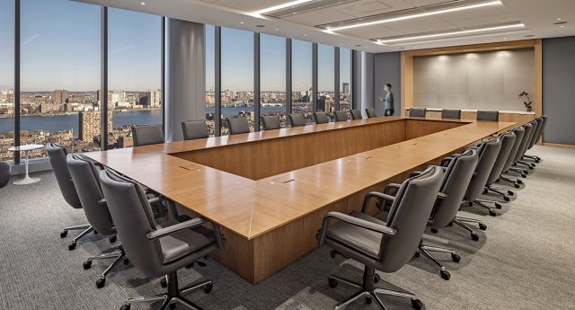 Ativa | Rectangle Conference Table | Custom Veneer | CBT Architects | Private Company | © Robert Benson Photography