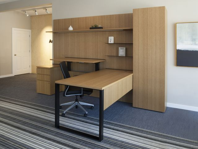 Cambium™ | Casegood | Rift Cut Oak Veneer | Lines. Denver Showroom