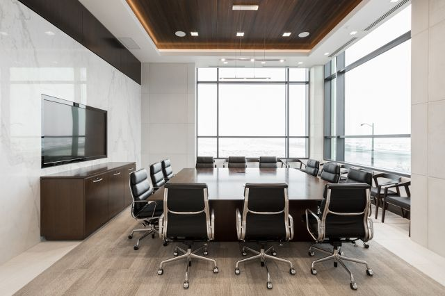 Flow | Conference Table | M33 Mocha Walnut Veneer Top | Matching Performance Credenza | Central Bank - Henriksen Butler