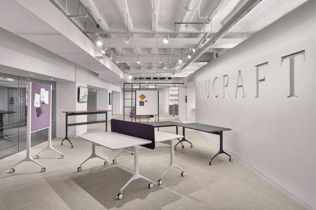 MYNE | Training Tables | Chicago Showroom
