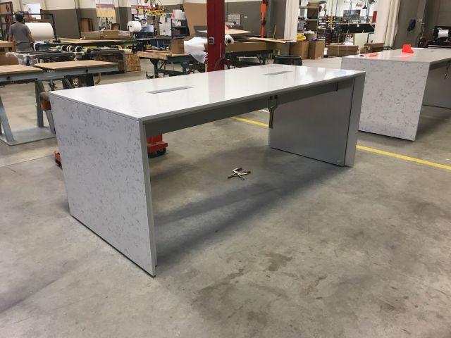 Tavola | Custom | Standing Height Table | Haida Quartz Top and Base