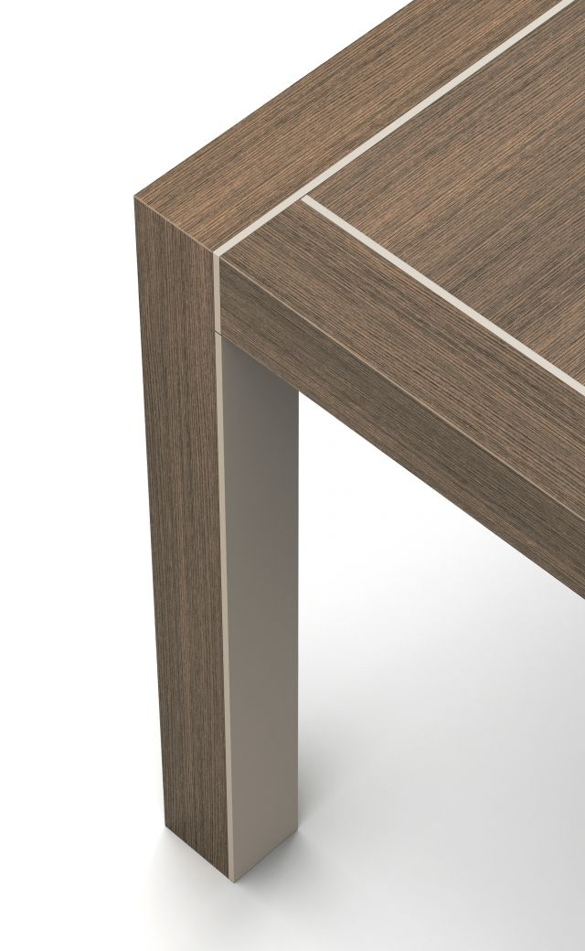 Epono | Edge Detail | Sahara Veneer | Burnished Powdercoat