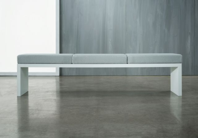 Emme | Bench | Full  Width Cushion | Cloud Paint