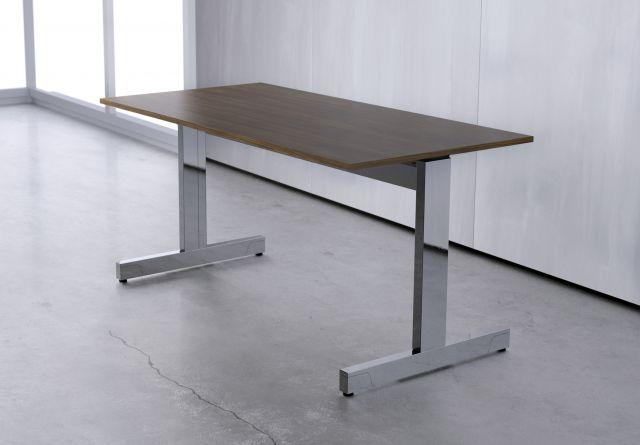 Fleet | Training Table | Edge-Mounted T-Leg | Square Edge