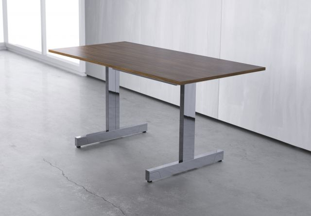 Fleet | Training Table | Veneer Top | Inset-Mounted T-Leg