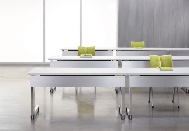 Fleet | Training Table | C Leg | Metal Modesty | Laminate Top ABS Edge