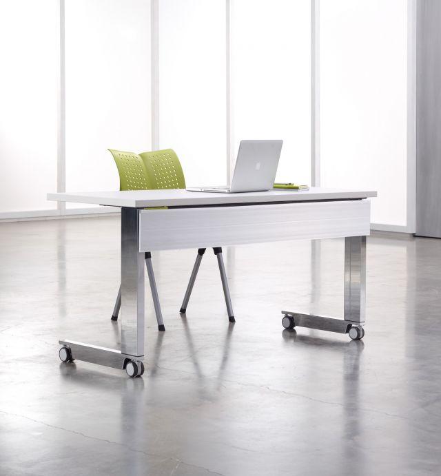Fleet | Training Table | C Leg | Metal Modesty | High Polished Legs