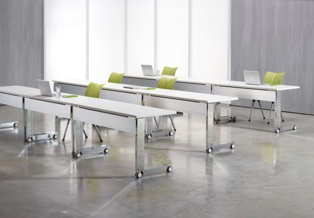 Fleet |Training Table | C Leg | Metal Modesty | Classroom Configuration