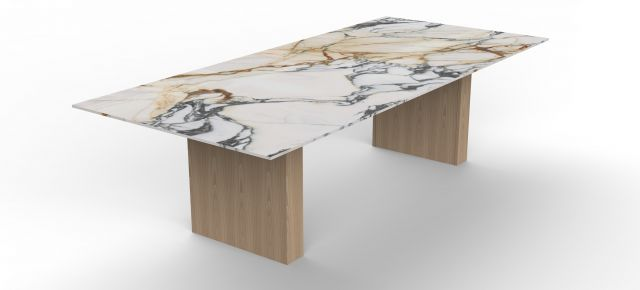 Flow | Conference Table | COM Marble Top | Dune Rectangle Base