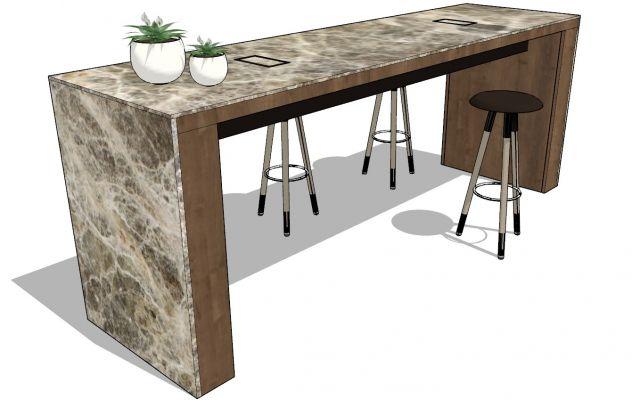 Custom | Standing Height Flow Table