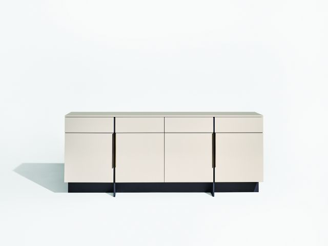 Forena | Conference Height Credenza | Lacquer Moonlight Case and Top