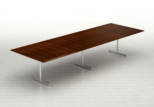 Forte   Conference Table   Rectangle Shape Top   T Leg Base