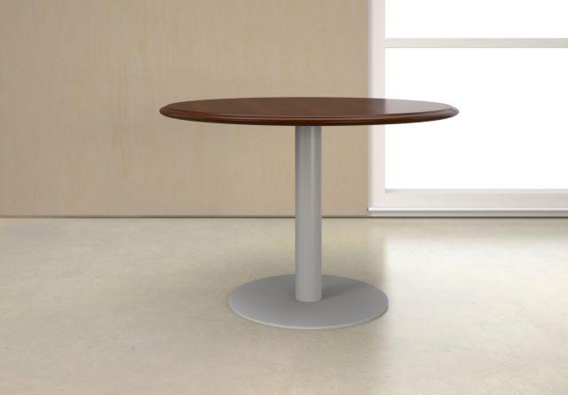 Forte   Meeting Table   Round G95 Spring Cherry Veneer   Foil Powdercoat Metal Base