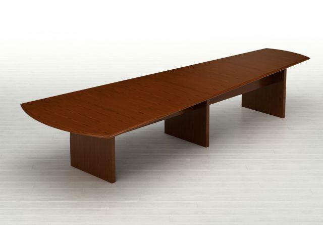Forte   Conference Table   Sightline G95 Spring Cherry Veneer Top   Veneer Panel Bases