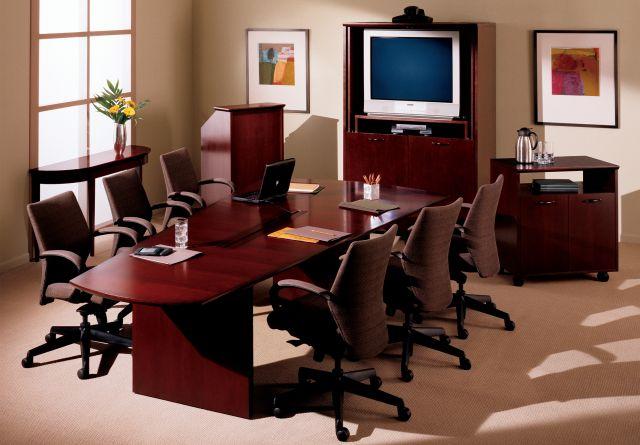 Forte   Conference Table   Sightline Veneer Top   Veneer Panel Base