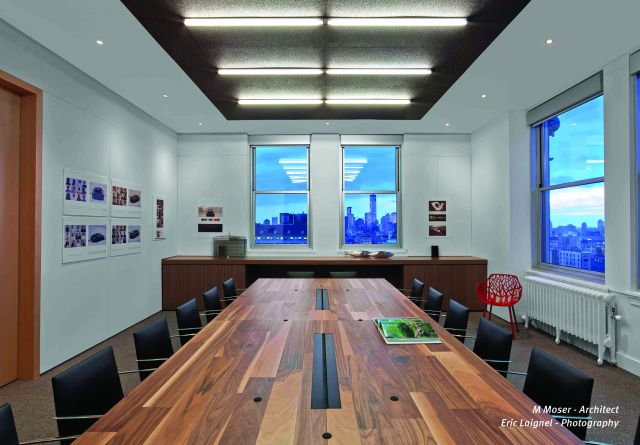 Flow | Conference Table | Custom | Planked Veneer Top | Hudson Rouge