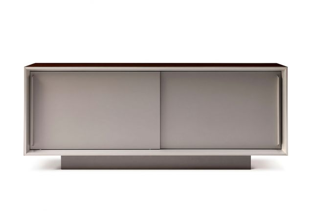 Kai | Credenza | Veneer Top | Foil Powdercoat Doors and Base | Whitesweep