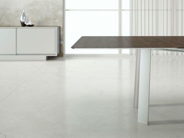 Kai | Conference Table | Rectangle Veneer Top | Metal Legs | Edge Detail