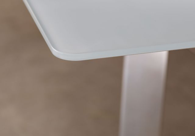 Kai | Conference Table | White Satin Glass Top | Detail