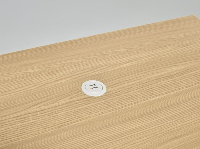 MYNE IN | Training Table | Natural Ash Laminate Top | USB Power Spec