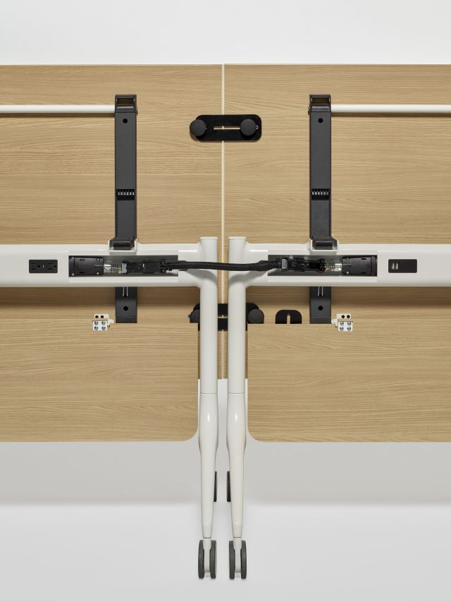MYNE In | Training Table| Natural Ash Laminate | Power Beam and Jumper Uncovered