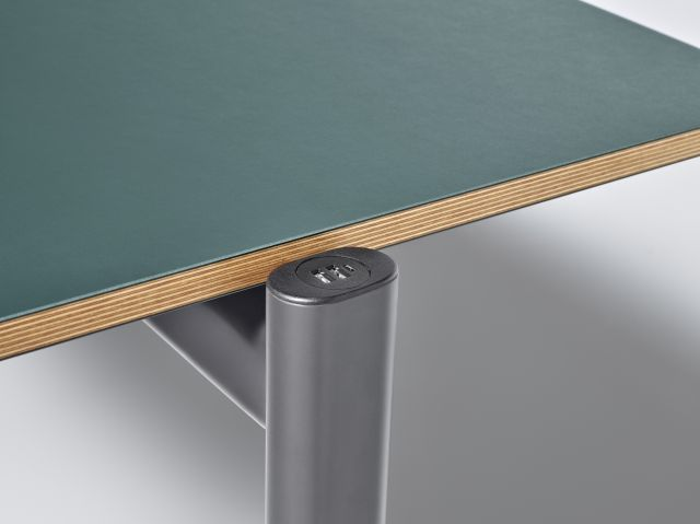 MYNE Out | Training Table | Conifer Linoleum | Storm Powdercoat | Power Cap Dual USB