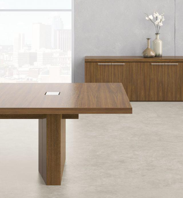 Neos   Conference Table   G35 Marron Walnut Veneer   End Detail