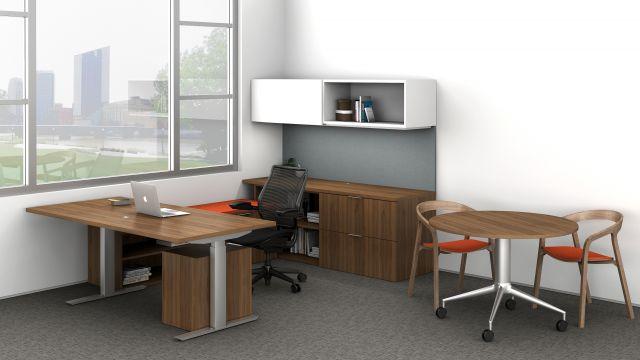 Cambium | Casegood | Walnut Veneer | Freestanding Desk