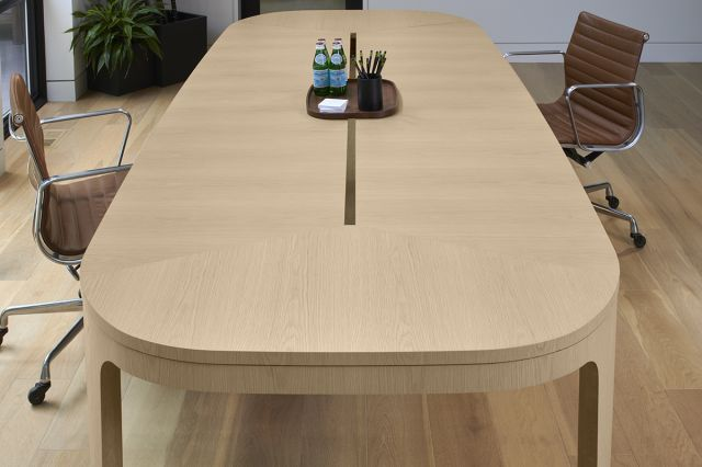 Alev Meeting | Conference Table | Segmented Top | Dune Veneer