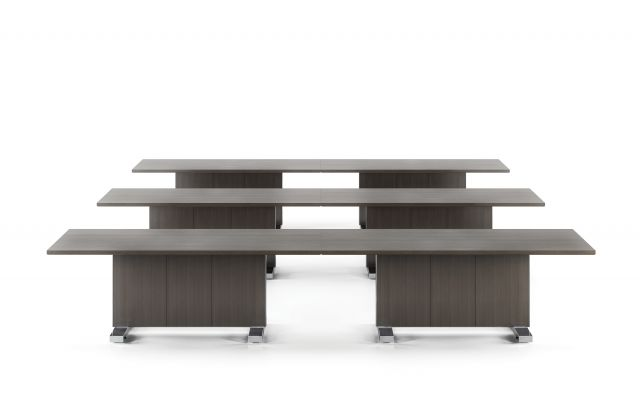 Approach | Reconfigurable Tables | Rift Cut Oak Veneer | Training Configuration