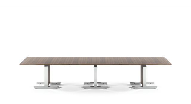 Approach | Reconfigurable Tables | Veneer | Polished Chrome Base