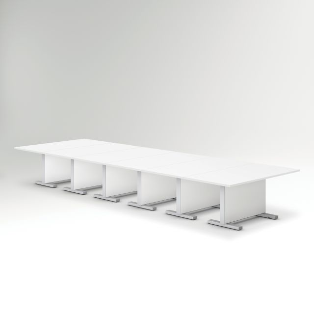 Approach | Reconfigurable Tables | Bright White Laminate Table | Conference