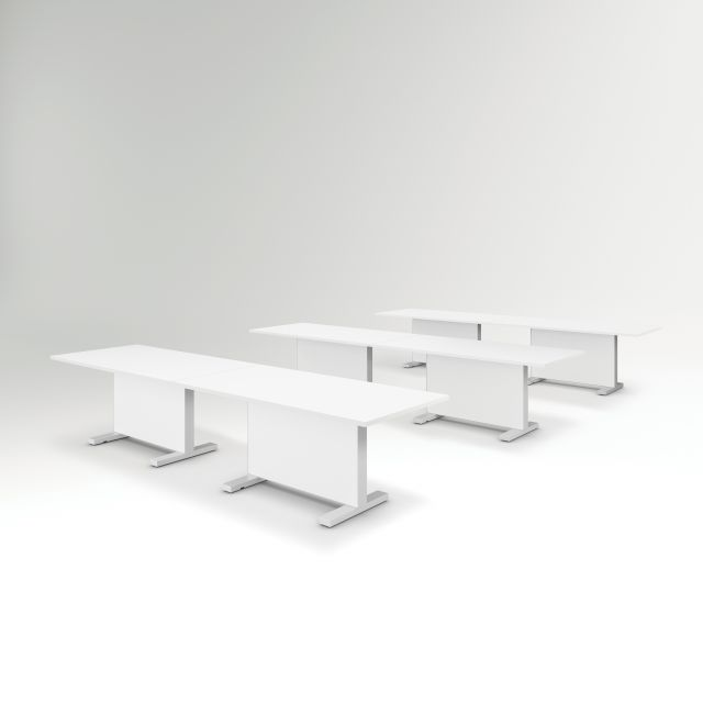 Approach | Reconfigurable Tables | Bright White Laminate Table | Training