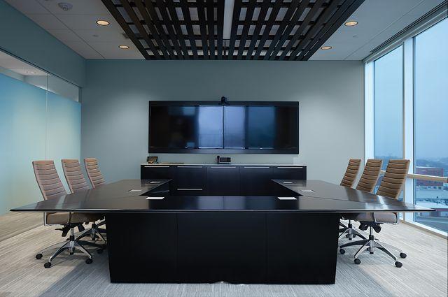 Ativa | Conference Table | G82 Onyx Veneer | U Shape