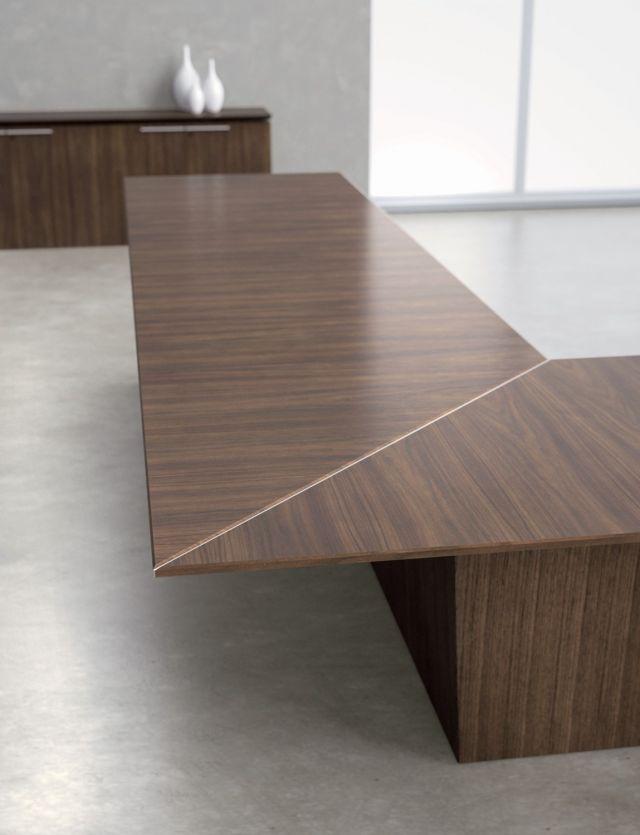 Ativa | Conference Table | Walnut Veneer | Side Detail | U Shape