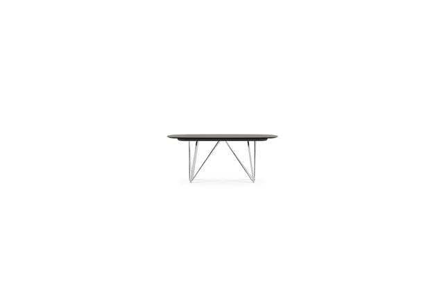 Baja | Conference Table | Soft Rectangle Top | Polished Chrome Wire Frame Base