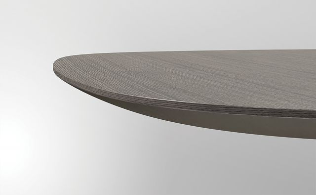 Baja | Meeting Table | M07 Bramble Rift Cut Oak | Crest Edge Detail