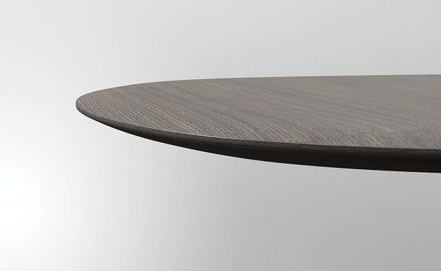 Baja | Meeting Table | M07 Bramble Rift Cut Oak Veneer | Surf Edge Detail