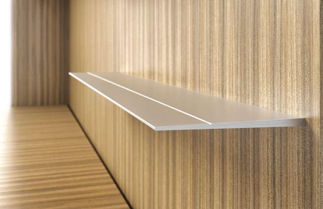 Cambium | Casegood  | M76 Paldao Veneer | Metal Shelf Detail