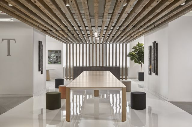 "Tova | Conference Table | 240"" × 54"" Custom Black Birch Linea Veneer 