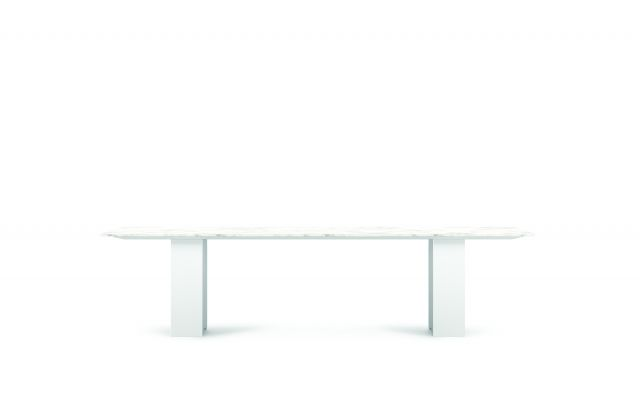 "Flow | Conference Table | 120"" Rectangle Stone-Top 